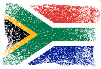 Nelson Mandela International Day. 18 July. Flag of the Republic of South Africa. Grunge background