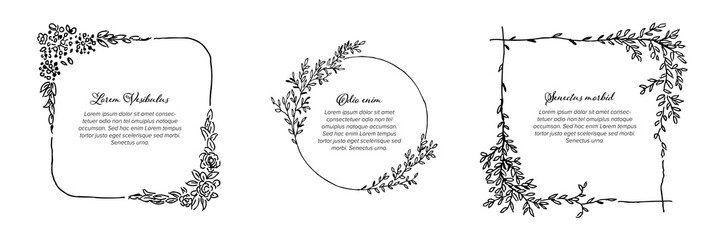 Minimalist floral frames collection