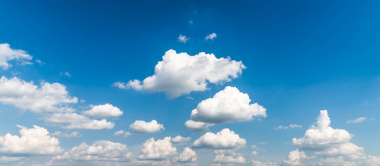 Poster Ciel blue sky with clouds