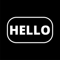 Hello sign icon on dark background