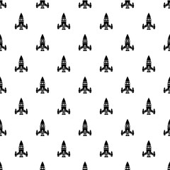 Rocket ship pattern vector seamless repeating for any web design