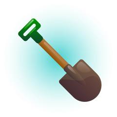 Garden shovel vector illustration