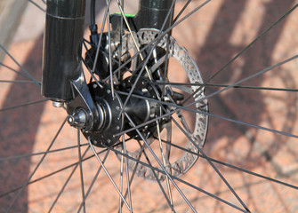 The Disc Brake of a High Performance Racing Bicycle.