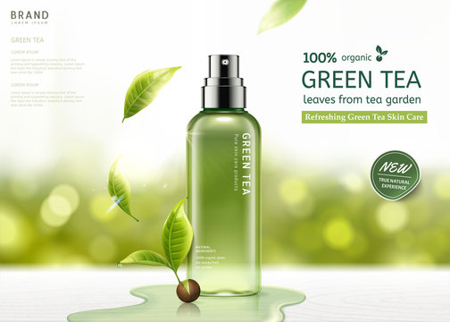 Green tea skin care spray
