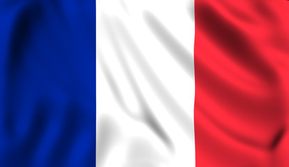 French flag waving symbol of France
