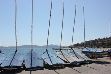 Boote an der Côte d'Azur