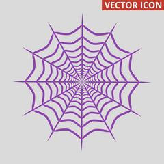 Spider web icon on grey background.