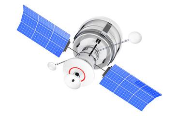 Modern World Global Navigation Satelite. 3d Rendering