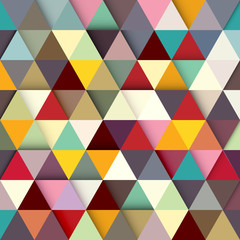 Paper colored triangles background. Vector