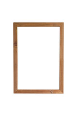 Blank board or blank frame or picture frame on white background with clipping path.