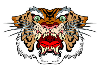the head of a wicked tiger