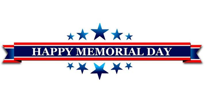 Happy memorial day, web banner