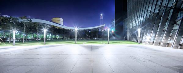 Fototapete - empty, modern square in modern city