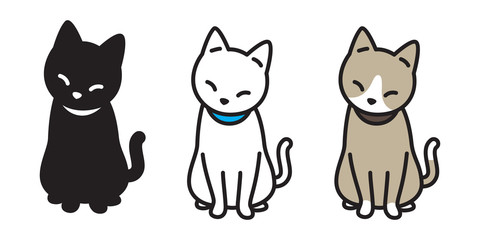 cat breed vector illustration kitten calico logo icon character Halloween doodle cartoon