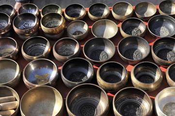 Klangschalen, Souvenirs, Kathmandu, Nepal, Asien
