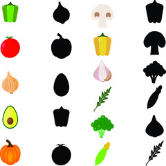 Find the correct shadow, education game for children vegetables