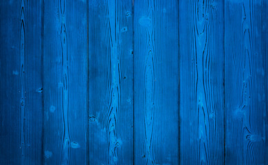Background: old shabby boards of blue color.