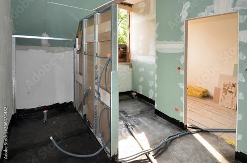 neues Badezimmer, Innenausbau\