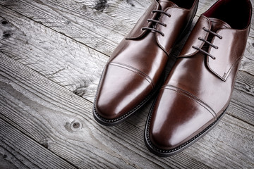 Classic formal brown leather shoes