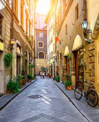 Narrow street in Florence, Tuscany. Italy
