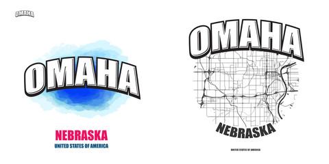 Omaha, Nebraska, two logo artworks