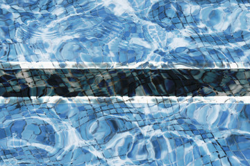 Texture of Botswana flag in the pool, water. Splashes.