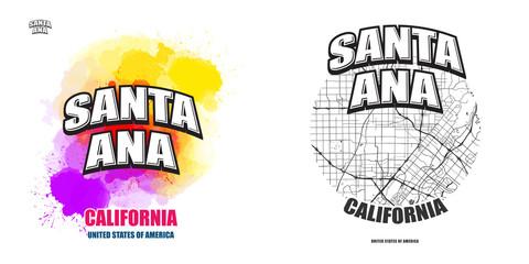 Santa Ana, California, two logo artworks