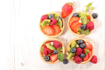 assorted fruit tartlet
