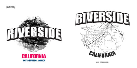 Riverside, California, two logo artworks