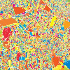 Ankara, Turkey, colorful vector map
