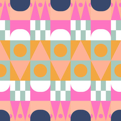 African color block seamless vector pattern.