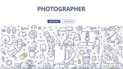 Photographer Doodle Concept