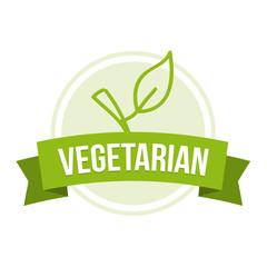 Wall Mural - Vegetarian Badge - Healthy nutrition