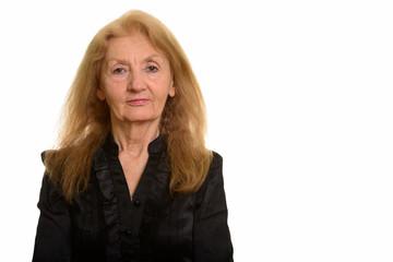 Studio shot of senior businesswoman