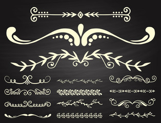Text separator decoratice divider book typography ornament design elements vector vintage dividing shapes illustration