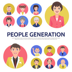 Flat People Generation Avatars Composition
