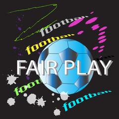 fair play football action brush style