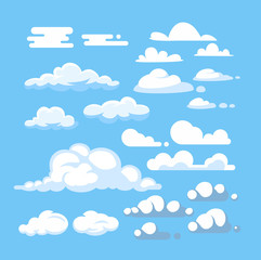 Cartoon cloud vector set