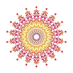 Vector gradient mandala