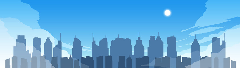 Cityscape in daytime. 