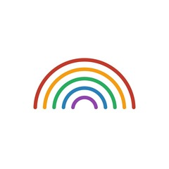 Rainbow color icon vector. Line weather symbol isolated. Trendy flat outline ui sign design. Thin linear graphic pictogram for web site, mobile application. Logo illustration. Eps10