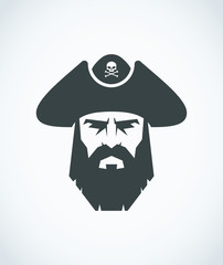 Bearded pirate head