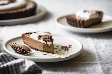 Raw Vegan Chocolate Cream Tart