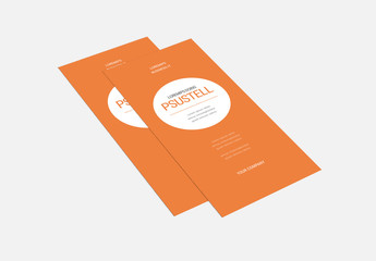 Orange White Trifold Brochure Layout