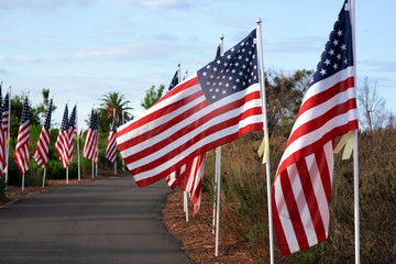 Annual Field of Honor, Newport Beach, California, USA