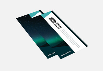 Trifold Brochure Layout With Night Sky Background