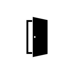 Door icon in flat style. Open door symbol
