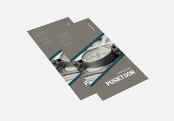 Teal and Gray Trifold Brochure Layout