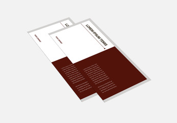 Brown and White Trifold Brochure Layout with Cat Icons