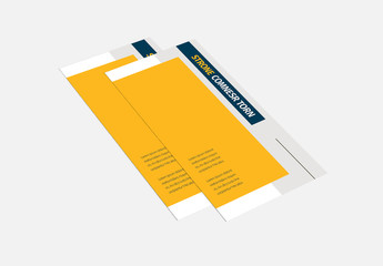 Yellow Trifold Brochure Layout with Cat Images